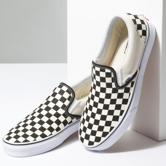 Vans Slip On Checkerboard Off White/Black Shoes